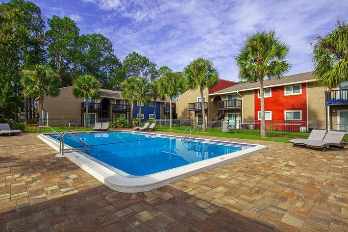 Kick back and relax with us here at Heron Walk Apartments in Jacksonville, Florida
