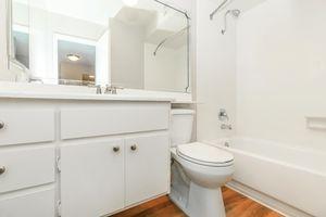 Sleek bathrooms at Casa Del Mar in San Diego, California