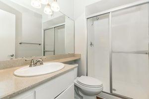 Sleek bathrooms at Casa Del Mar