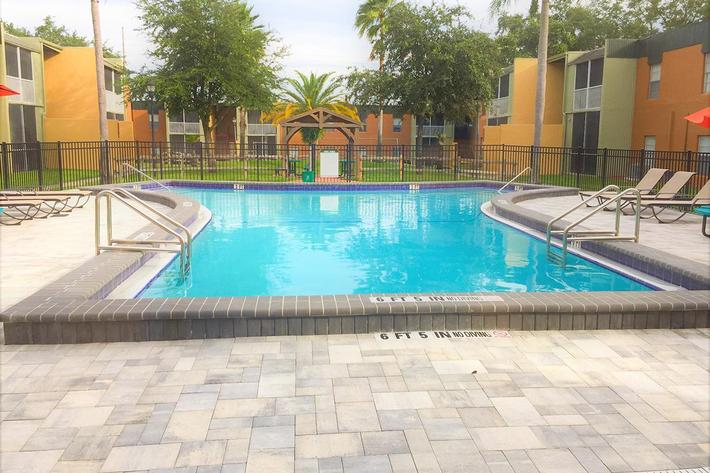 Keep Cool in The Shimmering Swimming Pool at River Rock in Temple Terrace, Florida
