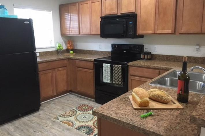Fully-equipped Kitchens at Village at Laurel Meadows in Bartow, Florida