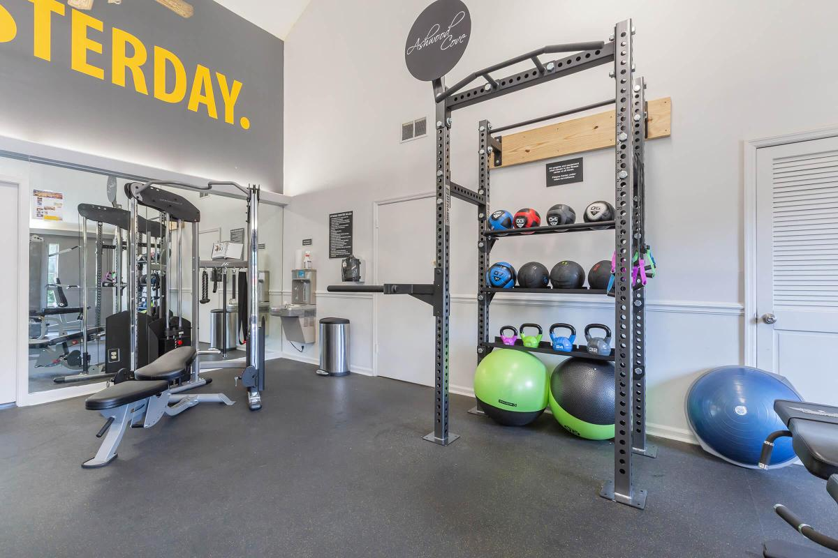 Our fitness center at Ashwood Cove