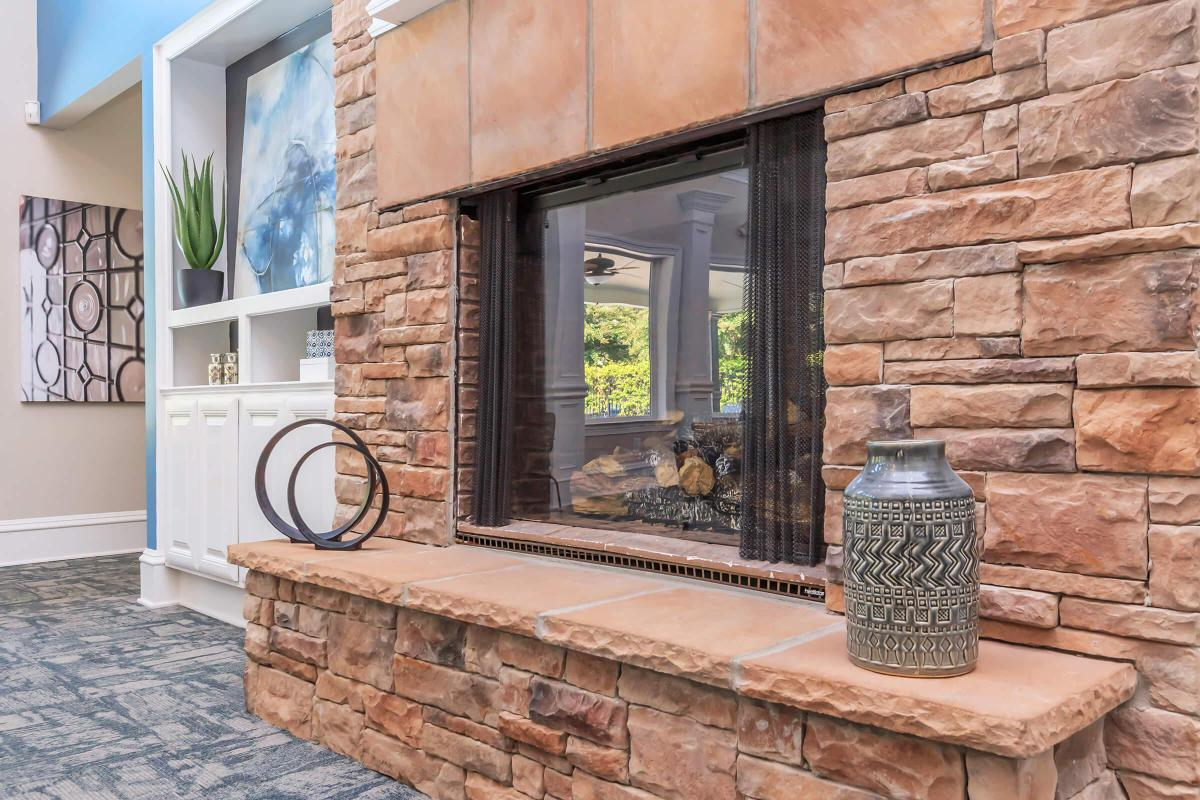 This is a fireplace at Ashwood Cove