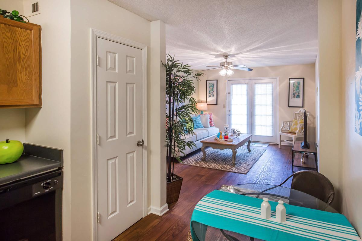 Another picture of the living room at The Dogwood in Ashwood Cove