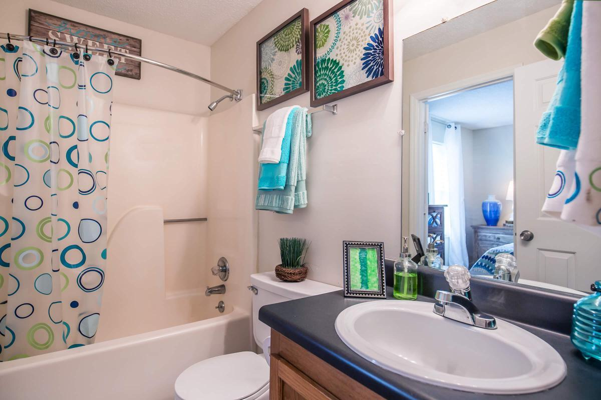 The bathroom at Ashwood Cove