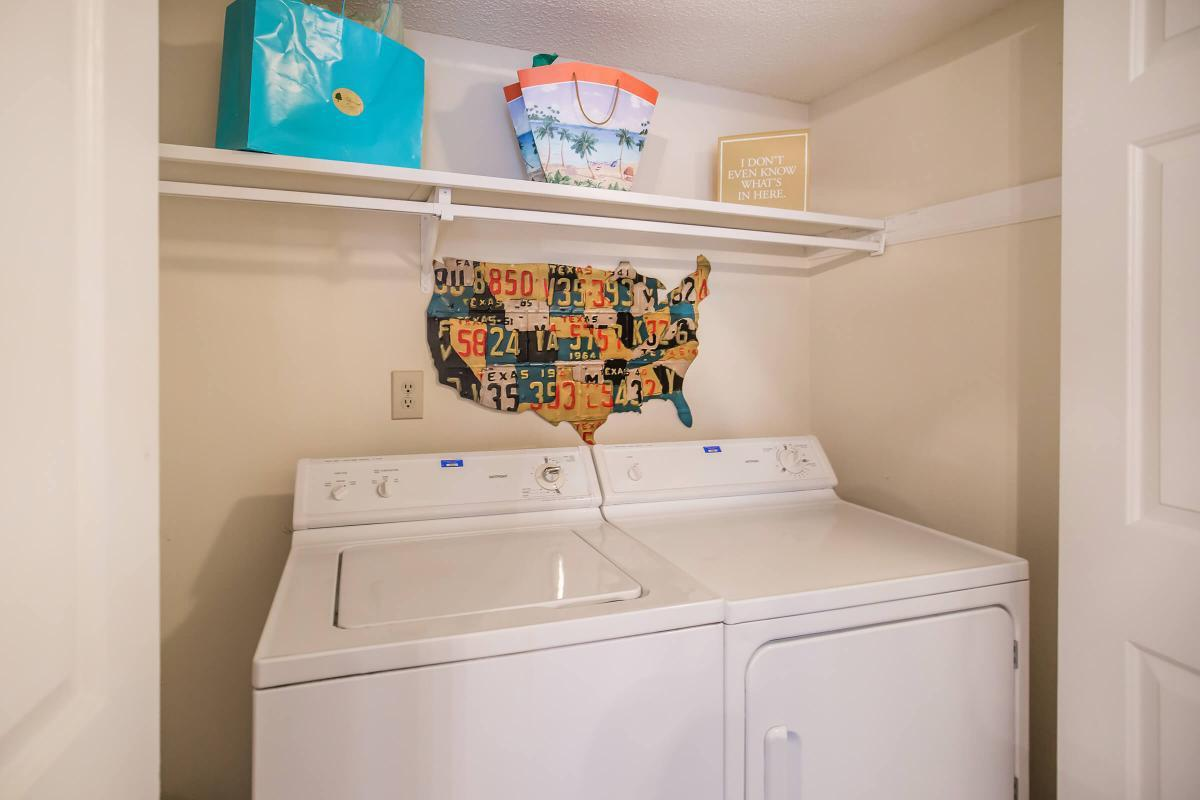 We have washer and dryer connections at Ashwood Cove