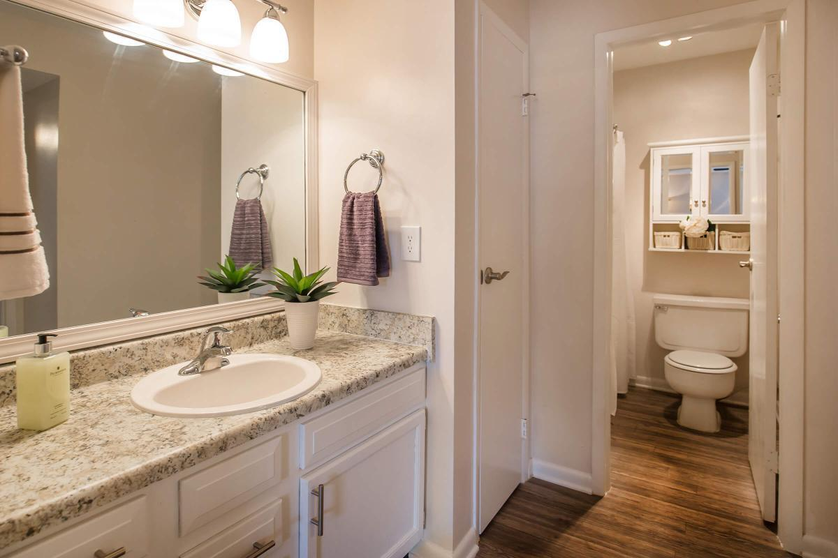 The bathroom at Ashwood Cove in The Juniper