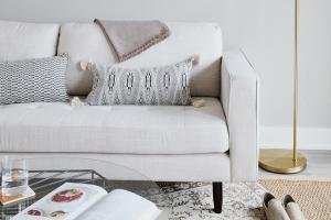a sofa in a living room