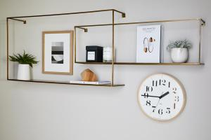a clock hanging on the wall