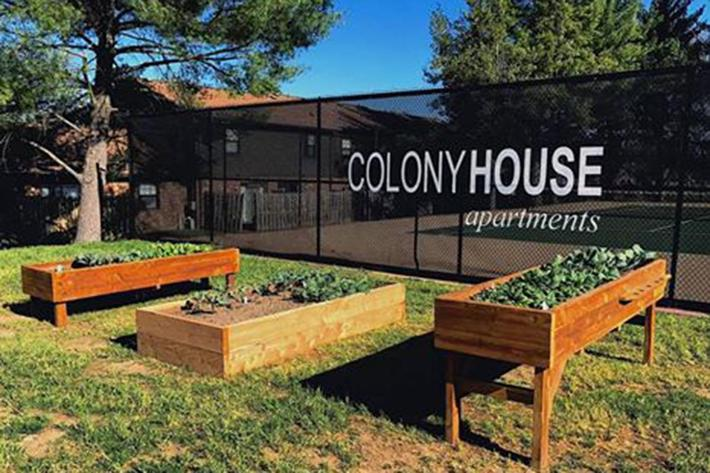 Gardening at the Colony House in Murfreesboro, Tennessee