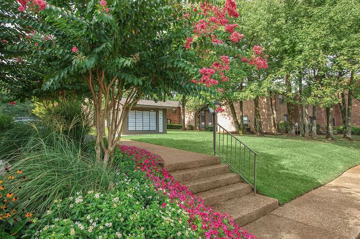 Lush Landscaping  At Gazebo Apartments