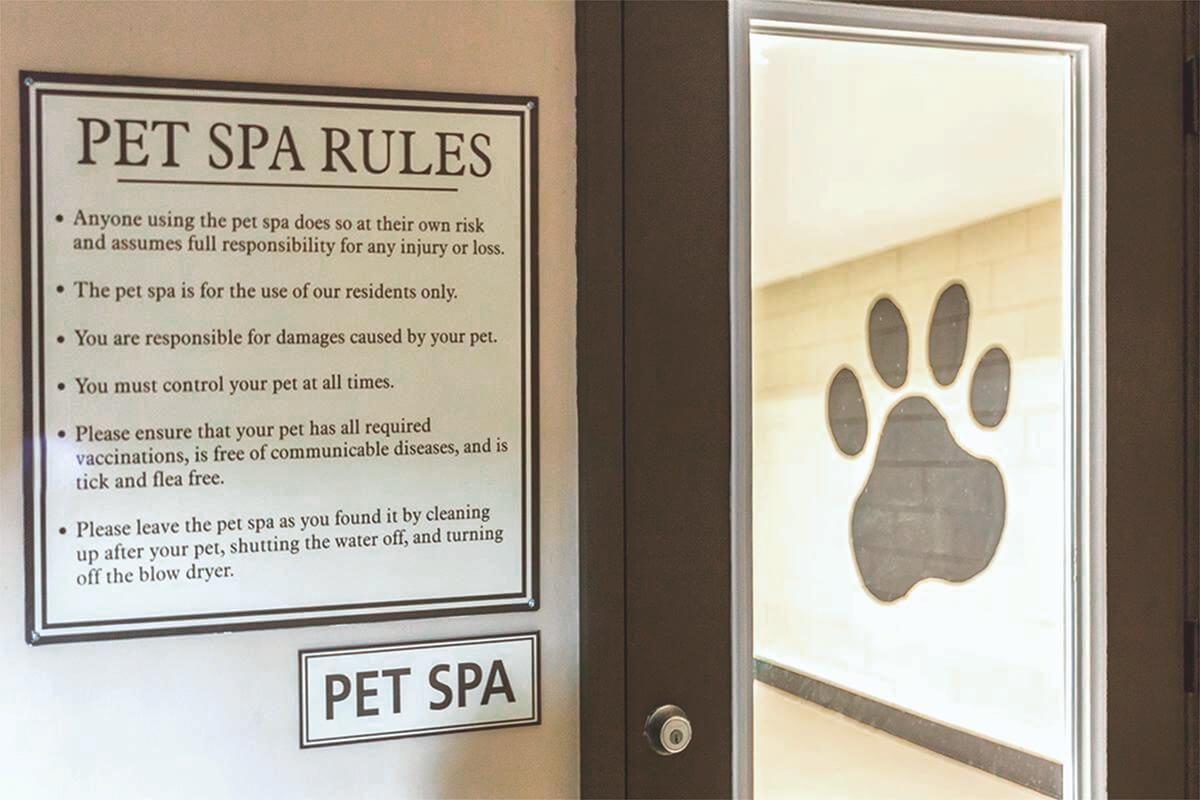 Pet spa rules
