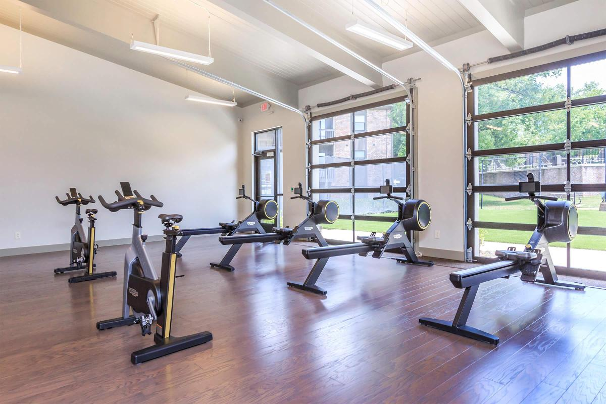 Rowing machines and spin bikes