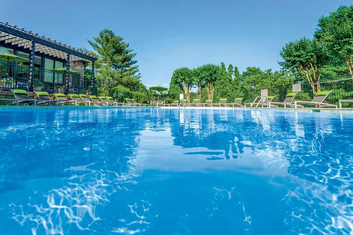 Swimming pool at Gazebo Apartments