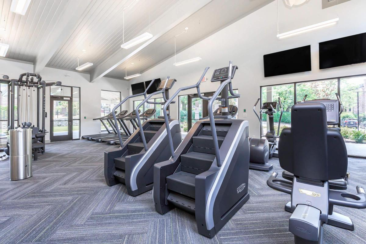 The fitness center at Gazebo Apartments in Nashville TN