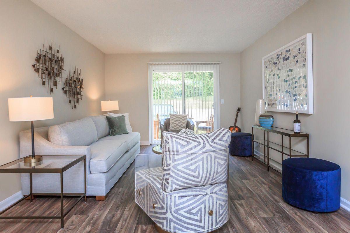 Living area at Gazebo Apartments
