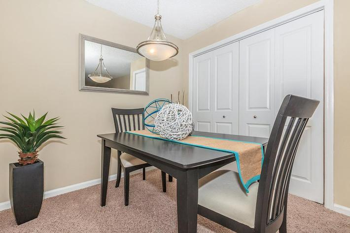 Separate Dining Area  At Gazebo Apartments