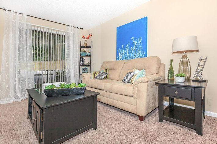 Spacious Living Room  At Gazebo Apartments