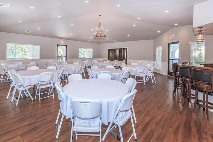 This is the banquet room at Crystal Tree