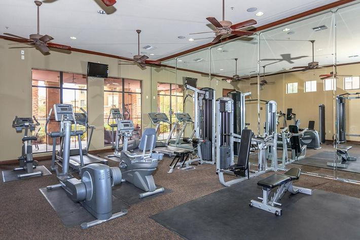 State of the Art Fitness Center at The Palladium Apartments in Las Vegas, Nevada