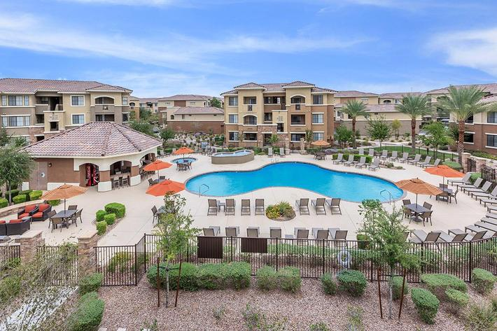 The beautiful view of your new home at The Palladium Apartments in Las Vegas, Nevada
