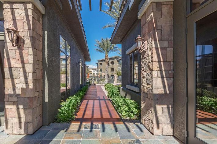 The path to your new home at The Palladium Apartments in Las Vegas, Nevada