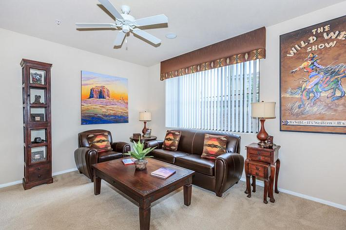 Your new living room at The Palladium Apartments in Las Vegas, Nevada