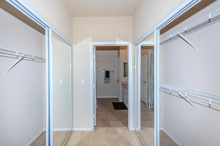 Large Closets at The Palladium Apartments in Las Vegas, Nevada