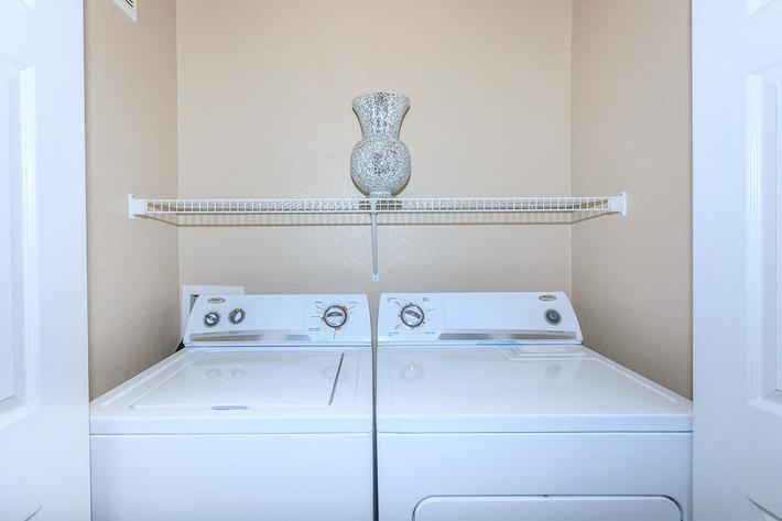 Washer and Dryer in home at The Palladium Apartments in Las Vegas, Nevada