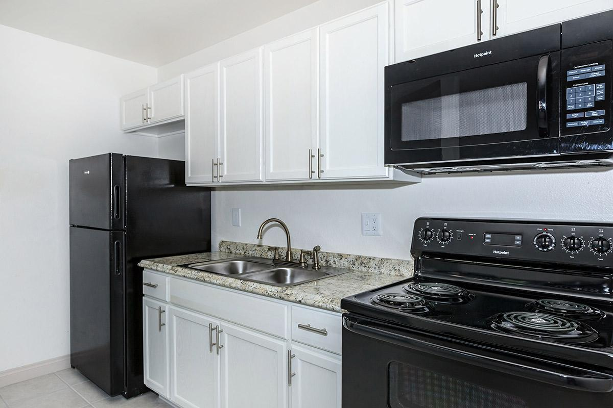 UPDATED KITCHEN AT WOODHAVEN APARTMENTS IN LAS VEGAS