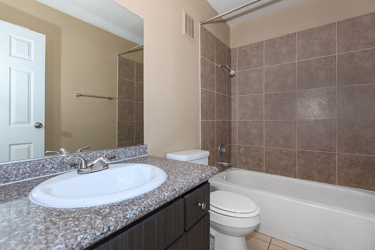 UPGRADED WASHROOM AT WOODHAVEN APARTMENTS IN LAS VEGAS