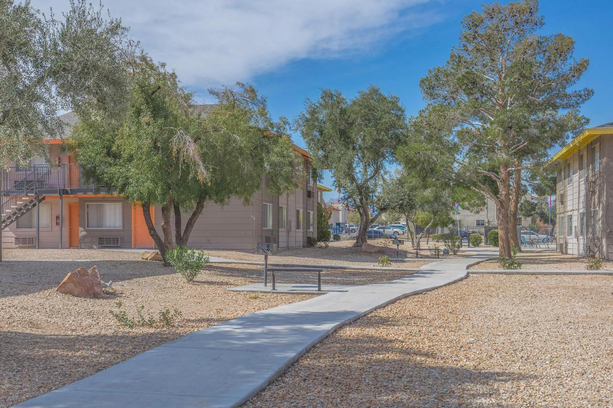 The path to your new home at Woodhaven in Las Vegas, Nevada