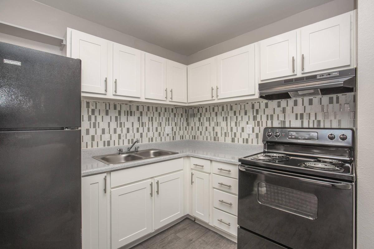 All-electric Kitchen at Woodhaven Apartments in Las Vegas, Nevada