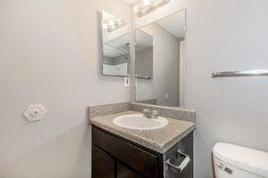 Peaceful modern designed bathroom