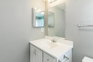 Peaceful and pretty bathroom