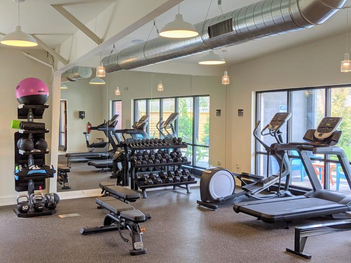 Work on your fitness goals at our state of the art fitness center