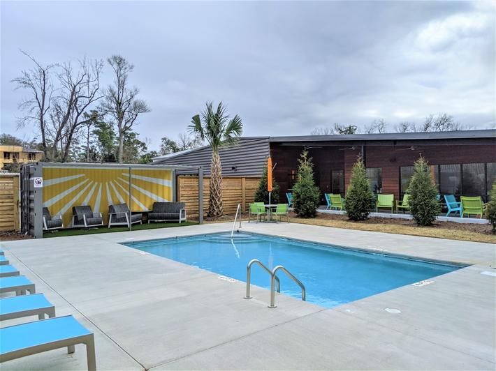 Enjoy the wonderful Wilmington weather all year at our sparkling pool