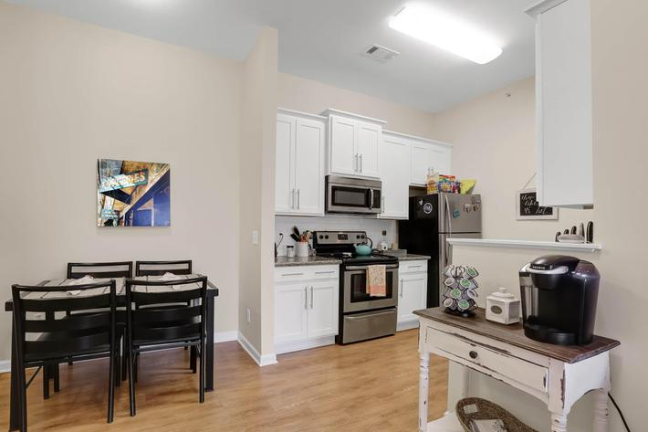 Dining and kitchen from living room.JPG
