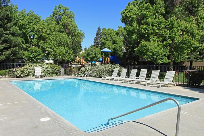 Cool off in the pools at Madera Villa