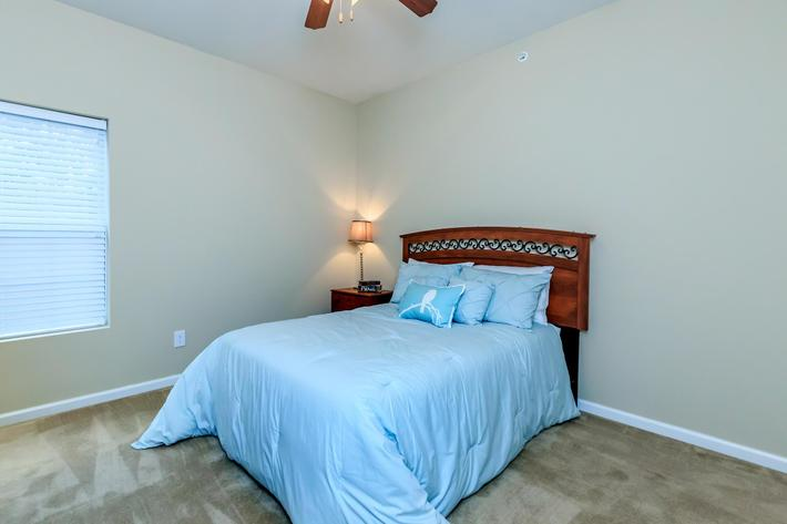 Cozy bedroom at Eagles Crest at Jack Miller in Clarksville, Tennessee