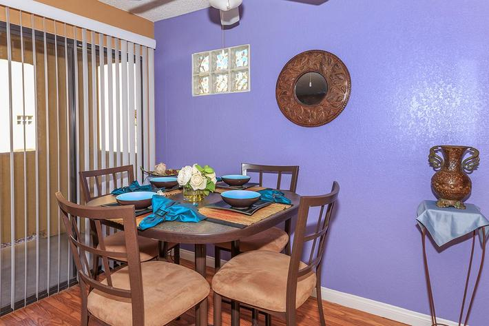 This is your new dining room at Sunset Cove