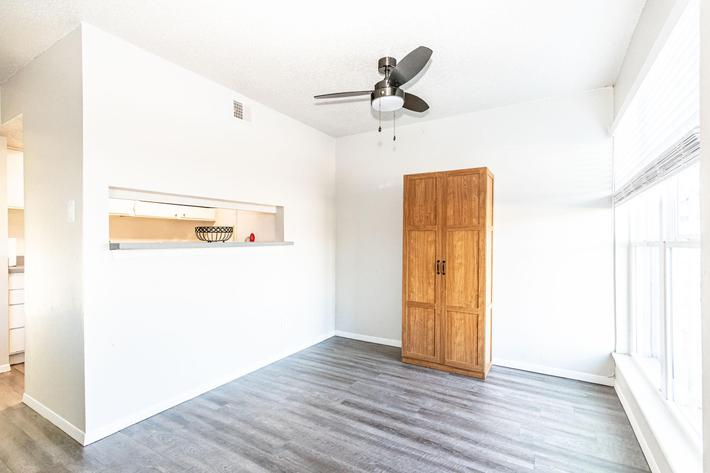 Ceiling fans in the apartments for rent at The Pointe Apartments