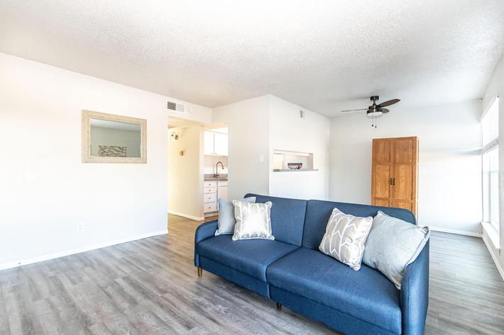 Spacious floor plans at The Pointe Apartments