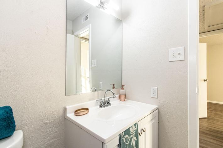 Wash rinse and repeat in your bathroom at The Pointe Apartments