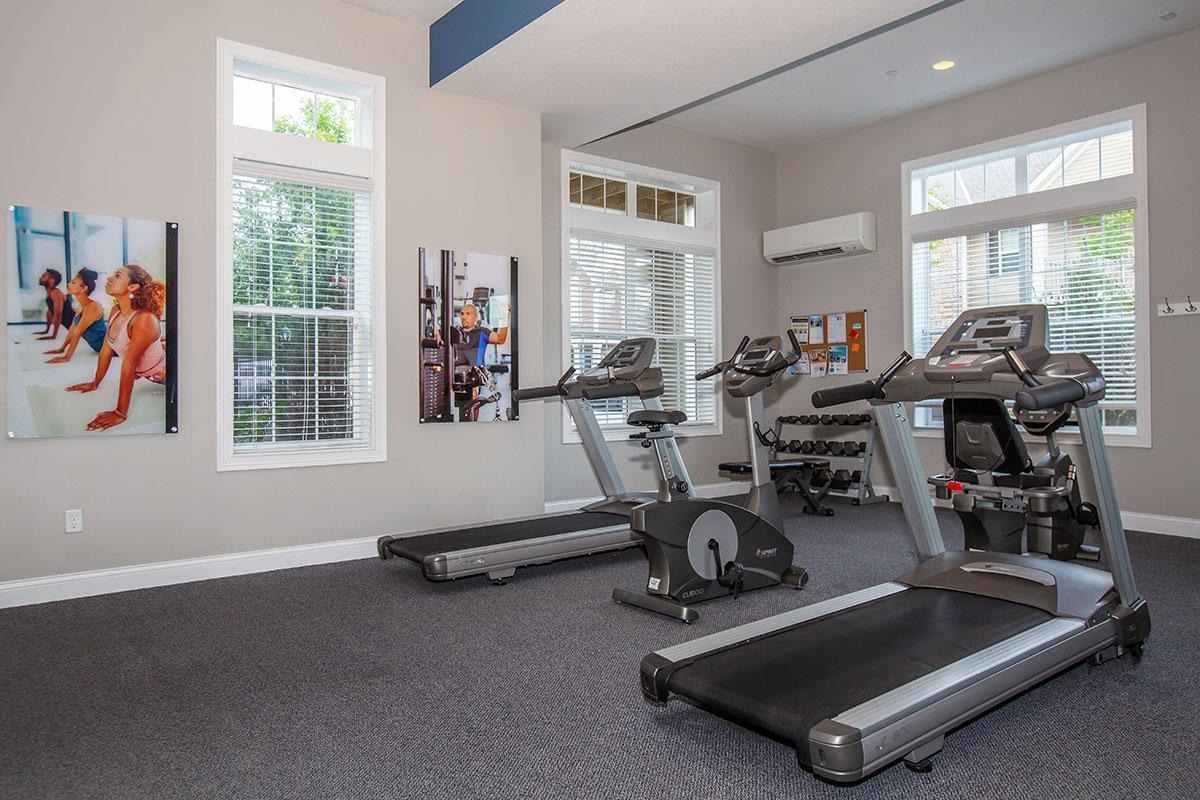 WORK OUT IN THE STATE-OF-THE- ART FITNESS CENTER