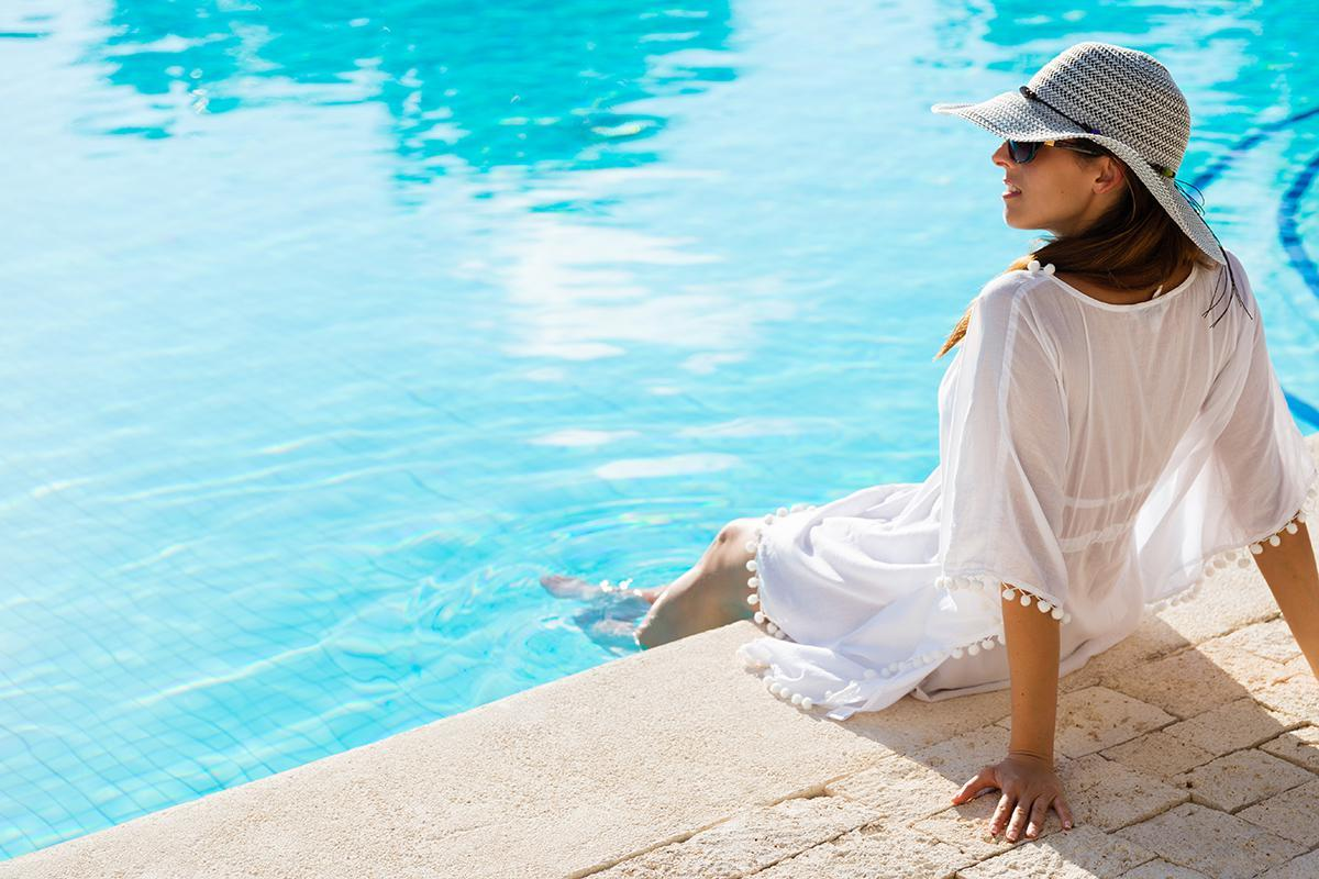 RELAX AND REJUVENATE AT THE SHIMMERING SWIMMING POOL