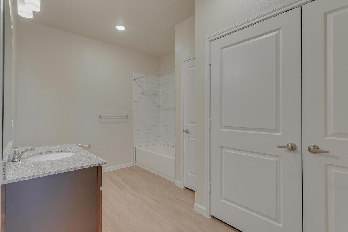 Pflugerville TX Apartments for Rent - Legacy Ranch at Dessau East Large Bathroom with Stainless Steel Fixtures, Extra Storage Space, and Much More