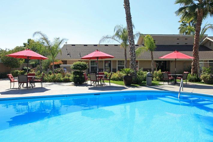Soak up the sun by the pool at Providence Pointe