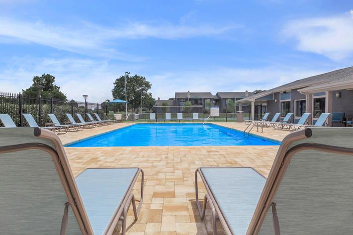 Enjoy Our Shimmering Swimming Pool Here At The Whitney In Franklin, TN