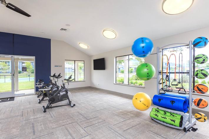 Modern Equipment In Our Fitness Center At The Whitney In Franklin, TN